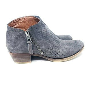Lucky Brand Size 6 Brielley Perforated Gray Suede